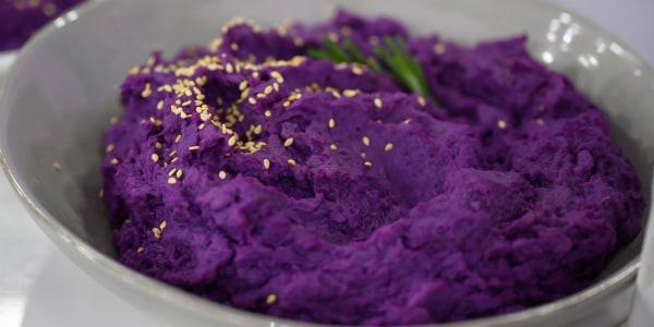Steamed Purple Sweet Potatoes
