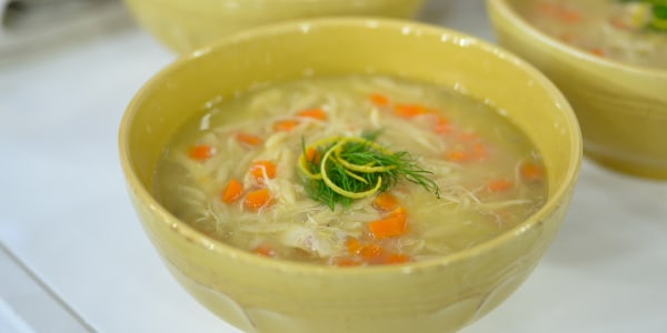 Joy Bauer's Lemon Chicken Soup with Orzo