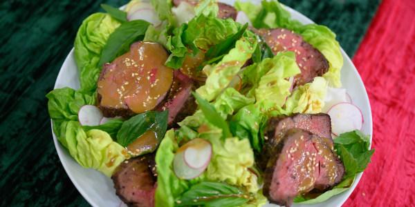 Beef Tenderloin Salad with Sesame Dressing
