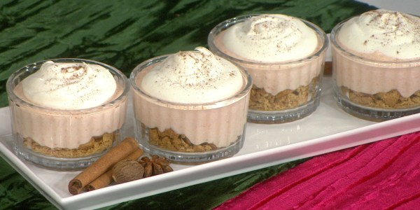 Mini No-Bake Sweet Potato Cheesecakes