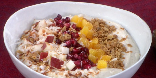 Yogurt with Honey and Pomegranate