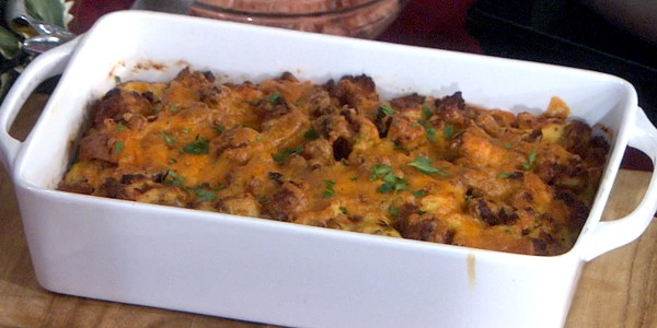 Sausage and Leek Breakfast Casserole