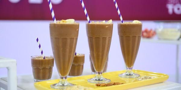 Non-Dairy Chocolate-Peanut Butter Milkshake