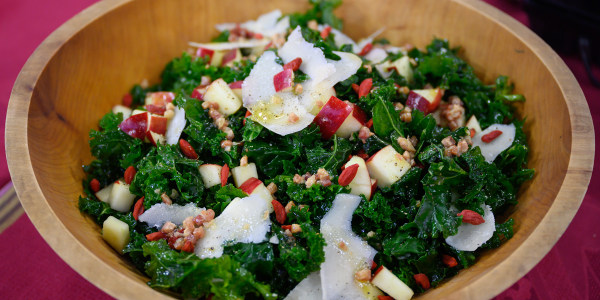 Warm Kale Salad with Apples and Pancetta