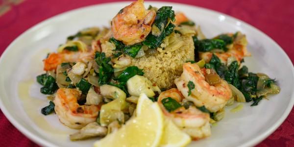 Quinoa and Shrimp Medley