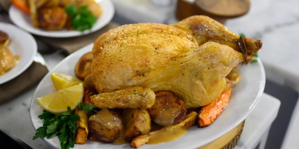 Curtis Stone's Roast Chicken and Winter Vegetables