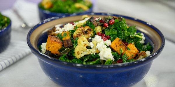 Roasted Veggie Kale Salad