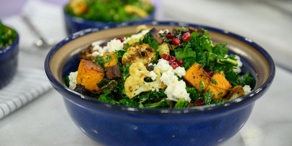 Roasted Veggie Kale Salad