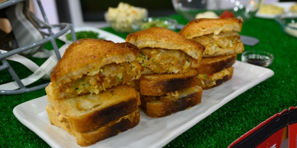 Dungeness Crab Cake Patty Melt with Old Bay Aioli