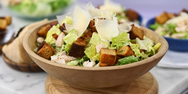 Southern Caesar Salad with Cornbread Croutons