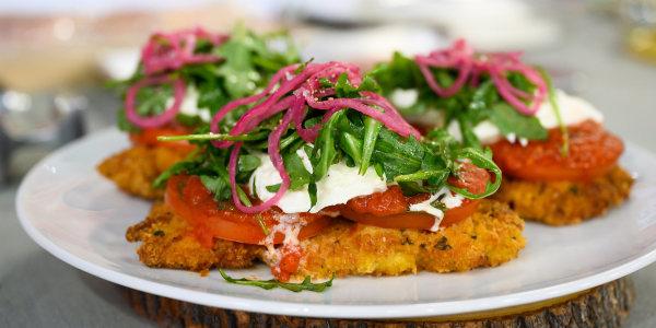 Chicken Parmigiano with Burrata