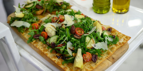 Lavash Thin Crust Salad Pizza