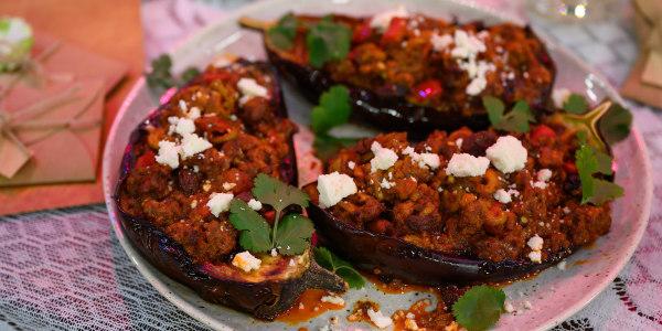 Beef-Stuffed Eggplant