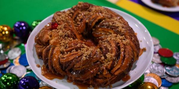 Citrus Babka King Cake Pomegranate Caramel