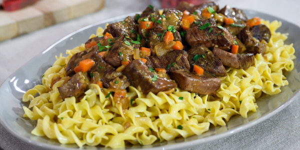 Beef Tips with Noodles