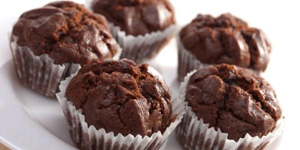 Chocolate Banana Flax Muffins