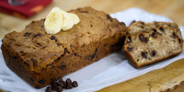 Gluten-Free Dark Chocolate Chip Banana Bread