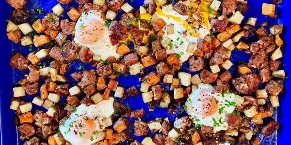 Cara Nicoletti's Sheet Pan Sausage Hash