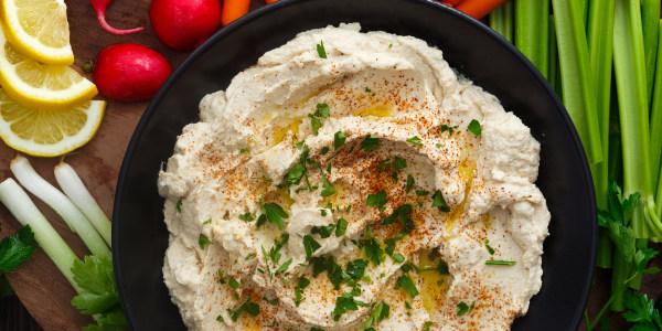 Natalie Morales' Easy Hummus with Veggies