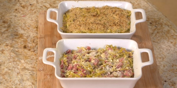 Sandra Lee's Easy Parmesan-Ham Casserole
