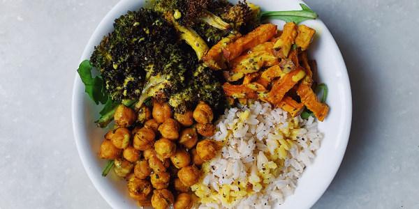 Sheet Pan Masala-Spiced Veggie Bowl