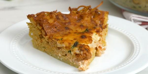 Easy Spaghetti Bolognese Pie