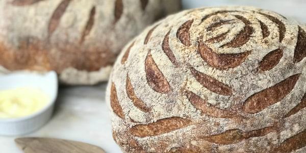 Whole-Wheat Sourdough Bread