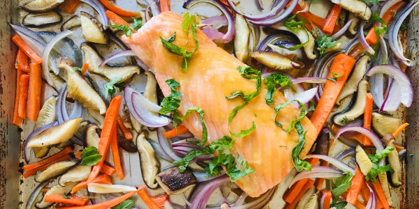Sheet Pan Honey-Mustard Salmon with Vegetables