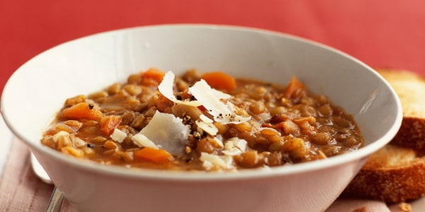 Lentil Soup with Garlic and Parmesan
