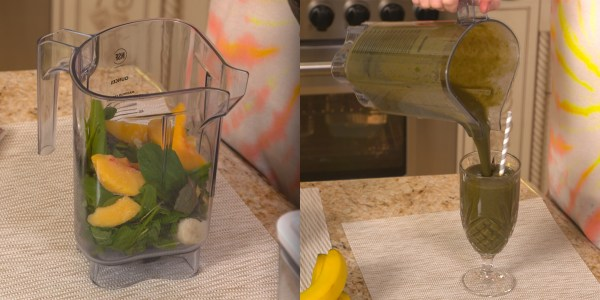 Sandra Lee's Healthy Banana-Greens Smoothie