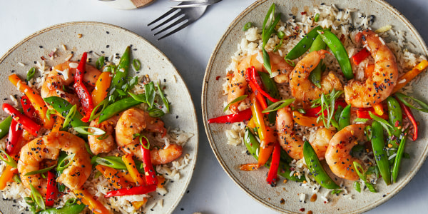 Easy Shrimp Stir-Fry with Ginger Rice
