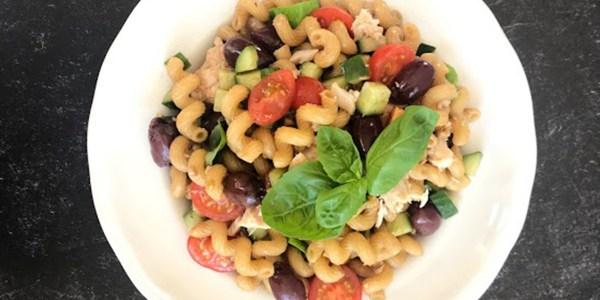 Tuna Macaroni Salad with Balsamic Vinaigrette