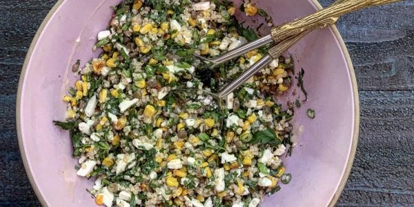 Corn, Quinoa and Feta Salad