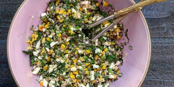 Corn, Quinoa and Feta Salad