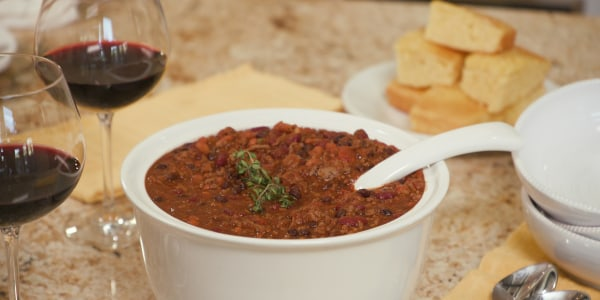 Sandra Lee's Make-Ahead 3-Bean Beefy Chili