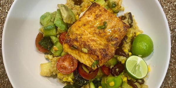 Seared Red Snapper with Summer Succotash
