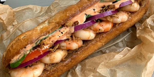 Shrimp Hoagie Sandwich