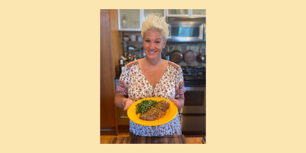 Anne Burrell's Grilled Skirt Steak with Bagna Càuda