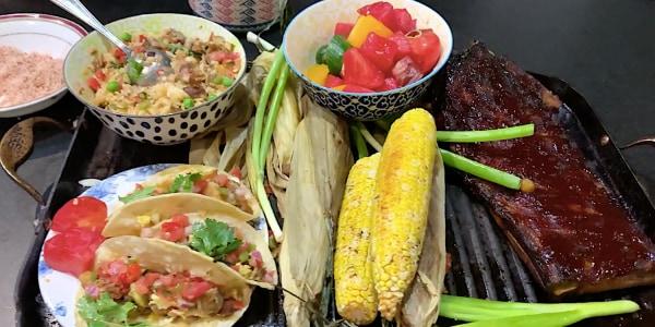 Marcus Samuelsson's Barbecue Ribs with Tomato-Watermelon Salad