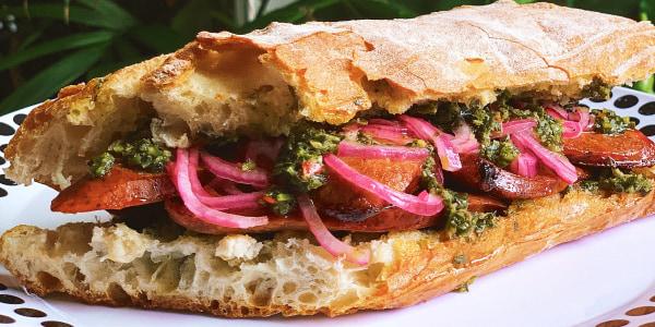 Alejandra Ramos' Choripan Sandwich with Chimichurri
