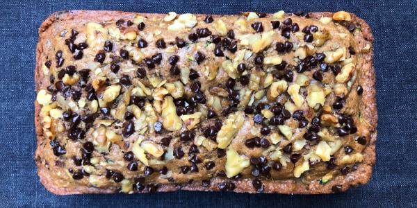 Chocolate Chip-Walnut Zucchini Bread