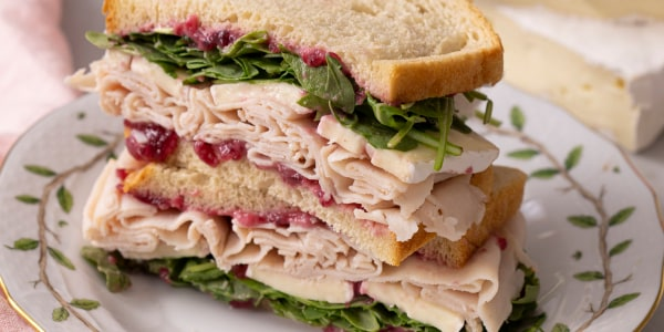 John Kanell's Turkey, Brie and Cranberry Sandwich