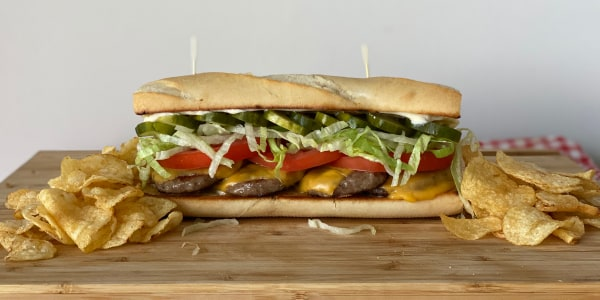 Nina Compton's Hot Sausage and Cheese Po'Boy