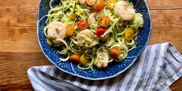 10-Minute Shrimp with Zucchini Noodles