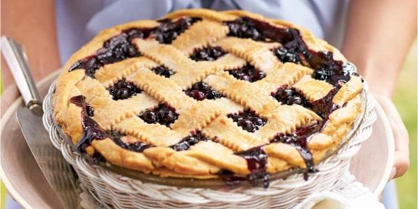 Honey-Balsamic Blueberry Pie