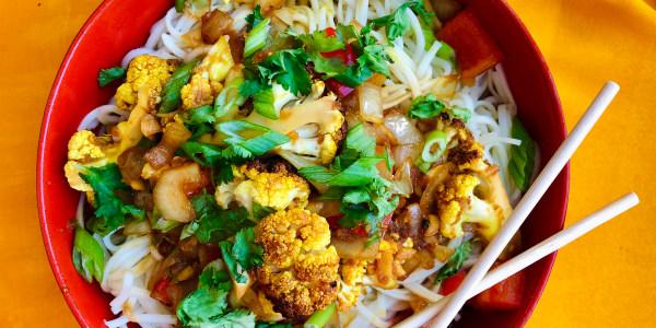 Gobi Manchurian with Roasted Cauliflower