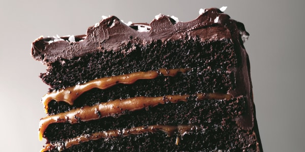 Martha Stewart's Mile High Salted-Caramel Chocolate Cake