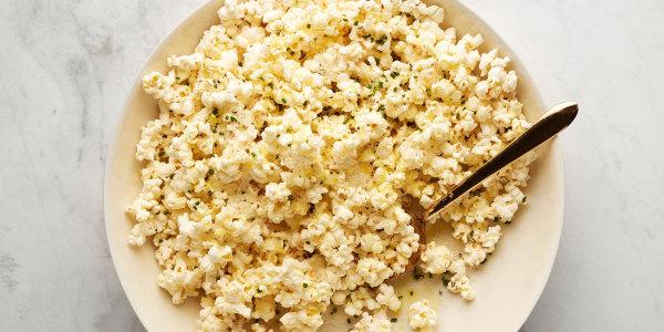 Cheesy Truffled Popcorn