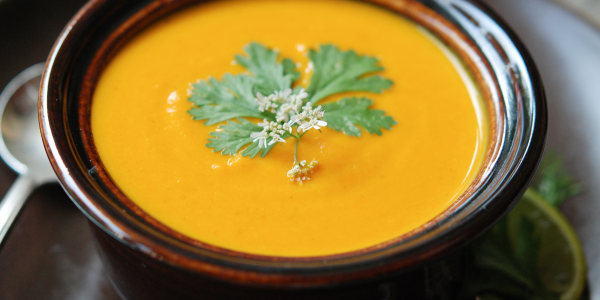 Andrew Zimmern's Carrot Soup with Ginger and Curry