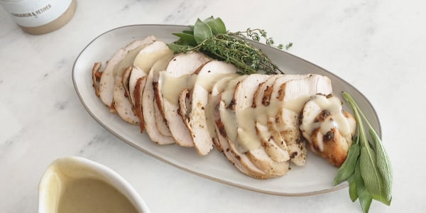 Herb Turkey Breast with Gravy